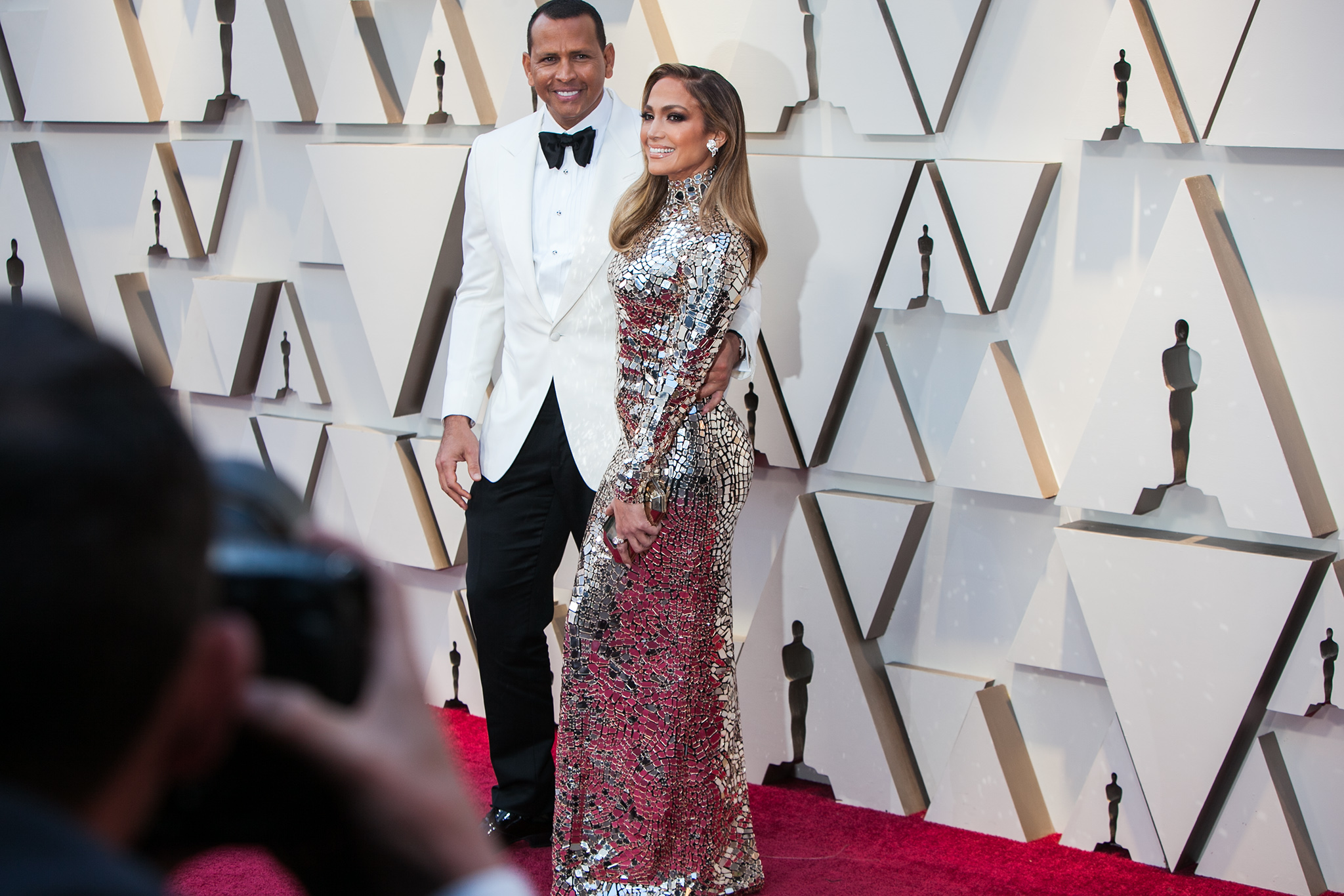 Alex Rodriguez with Jennifer Lopez in Tom Ford