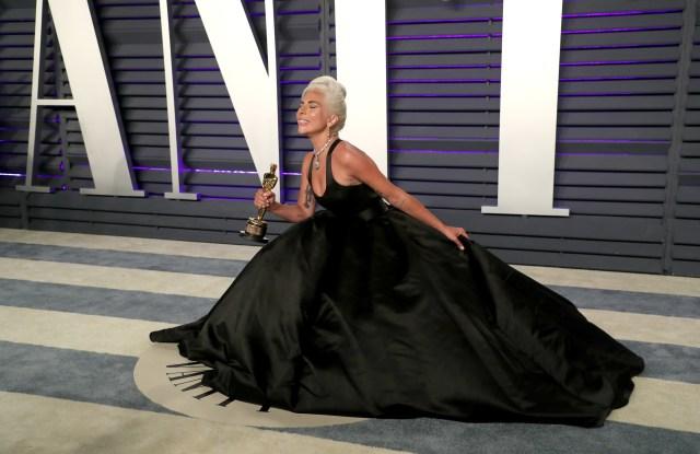 Lady GagaVanity Fair Oscar Party, Arrivals, Los Angeles, USA - 24 Feb 2019 Wearing Brandon Maxwell same outfit as catwalk model *10100245ap