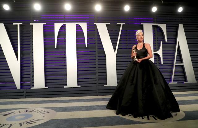 Lady GagaVanity Fair Oscar Party, Arrivals, Los Angeles, USA - 24 Feb 2019Wearing Brandon Maxwell same outfit as catwalk model *10100245ap