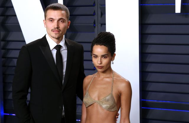 Karl Glusman (L) and Zoe Kravitz attend the 2019 Vanity Fair Oscar Party following the 91st annual Academy Awards ceremony, in Beverly Hills, California, USA, 24 February 2019. The Oscars are presented for outstanding individual or collective efforts in 24 categories in filmmaking.Vanity Fair Oscar Party - 91st Academy Awards, Beverly Hills, USA - 24 Feb 2019