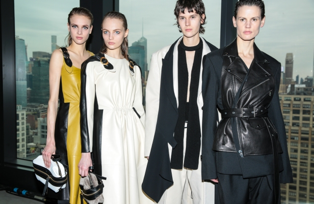 Backstage at Proenza Schouler RTW Fall 2019