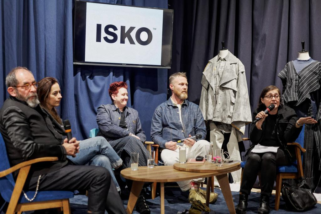 Isko's sustainable denim panel in Paris.