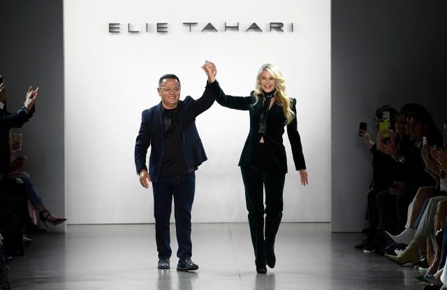 Elie Tahari and Christie Brinkley on the catwalkElie Tahari 45th Anniversary show, Runway, Fall Winter 2019, New York Fashion Week, USA - 07 Feb 2019