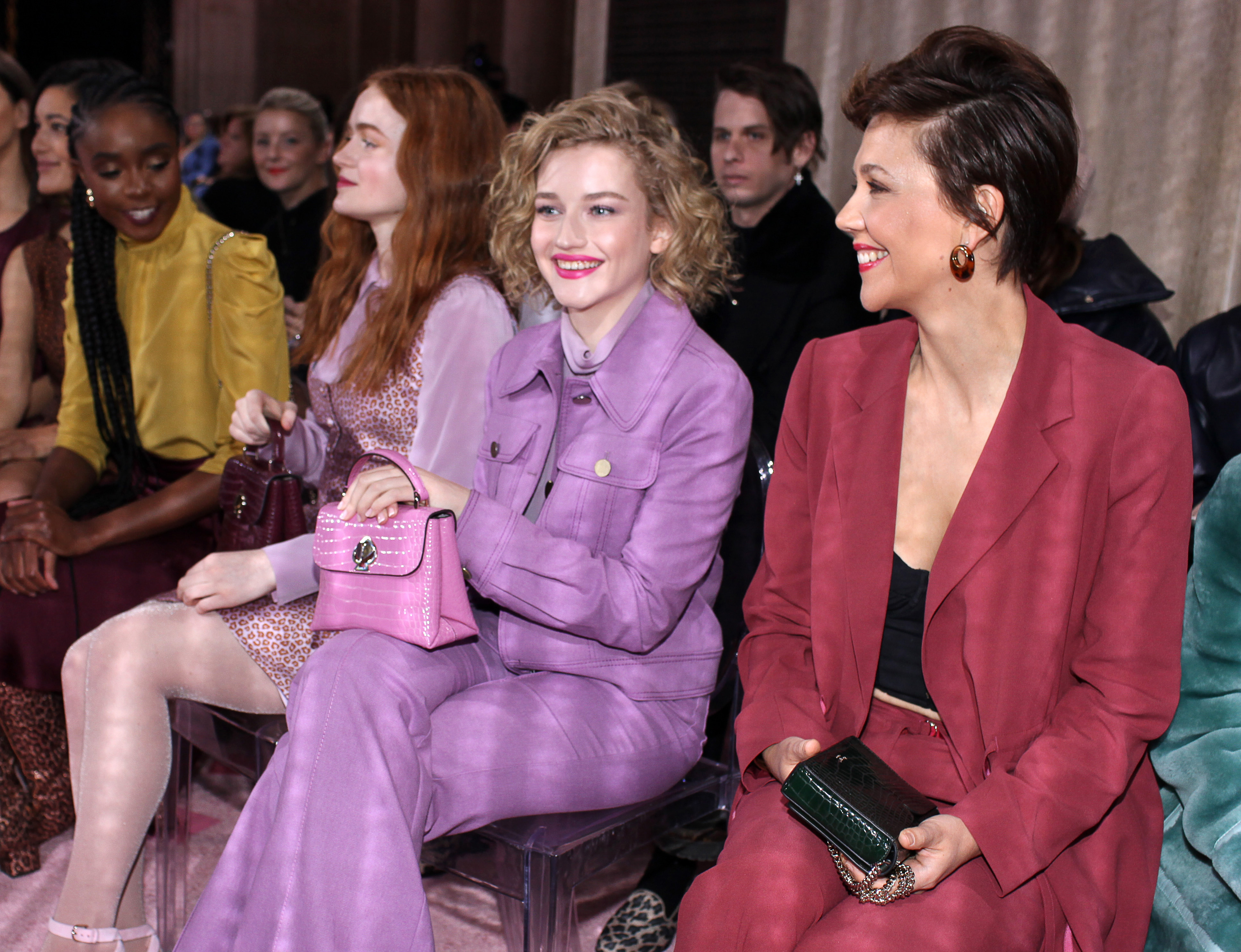 Julia Garner and Maggie Gyllenhaal in the front rowKate Spade show, Front Row, Fall Winter 2019, New York Fashion Week, USA - 08 Feb 2019