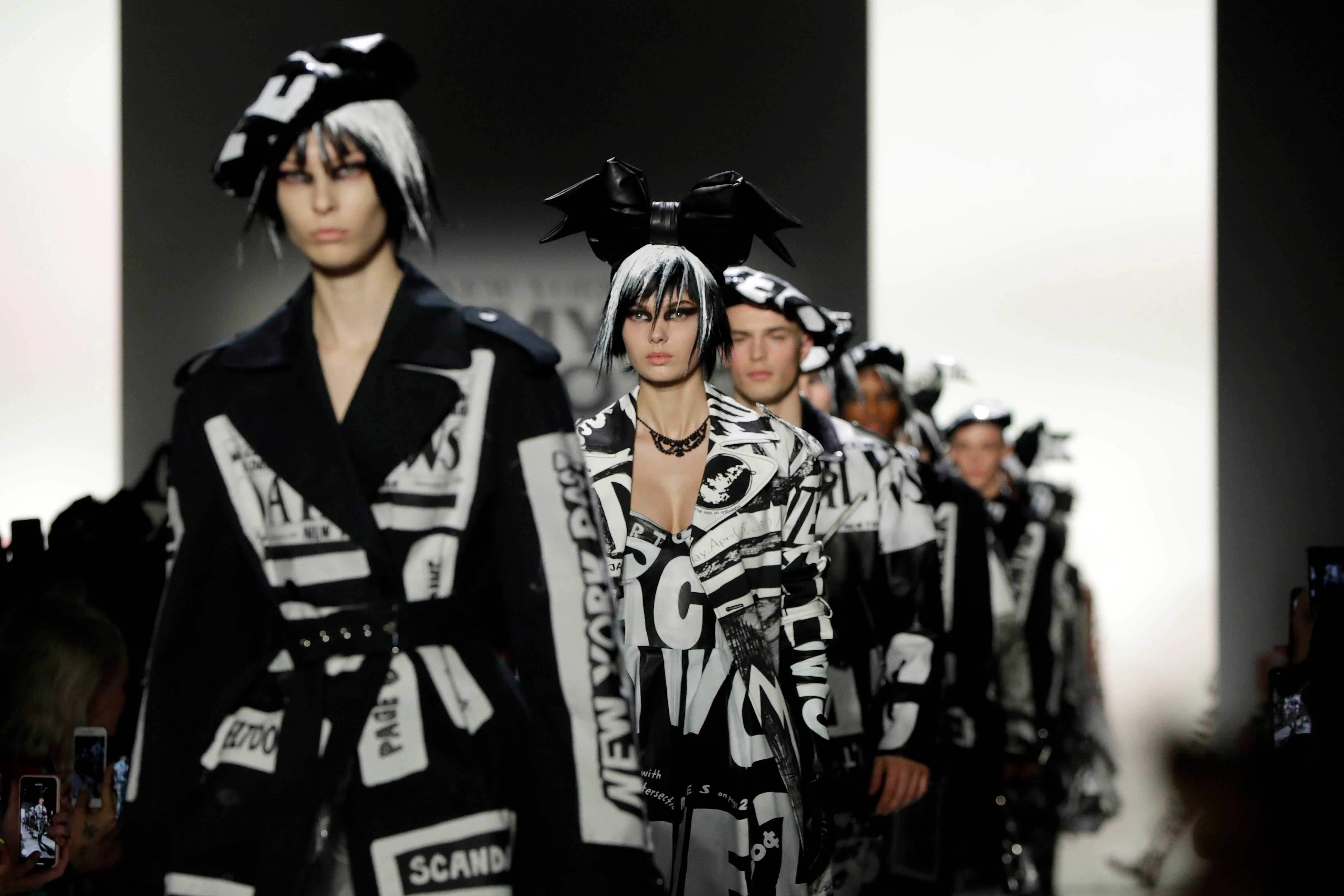 Fashion from the Jeremy Scott collection is modeled during New York Fashion Week, in New YorkFashion Jeremy Scott, New York, USA - 08 Feb 2019