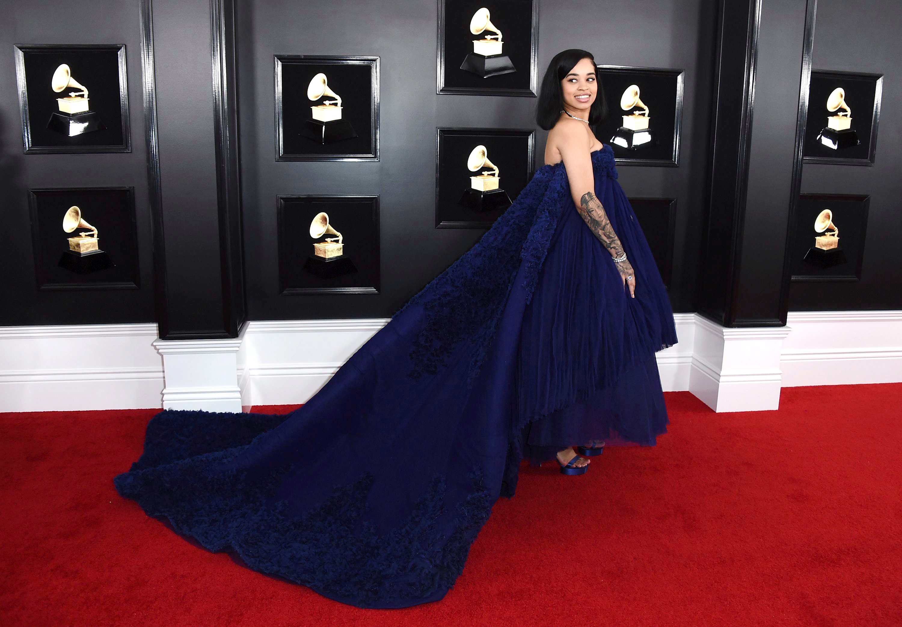 Ella Mai arrives at the 61st annual Grammy Awards at the Staples Center, in Los Angeles61st Annual Grammy Awards - Arrivals, Los Angeles, USA - 10 Feb 2019