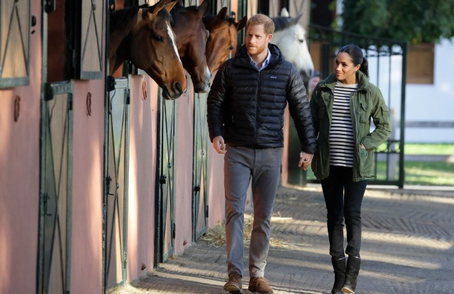 Meghan Markle and Prince Harry visit the Moroccan Royal Federation of Equestrian Sports