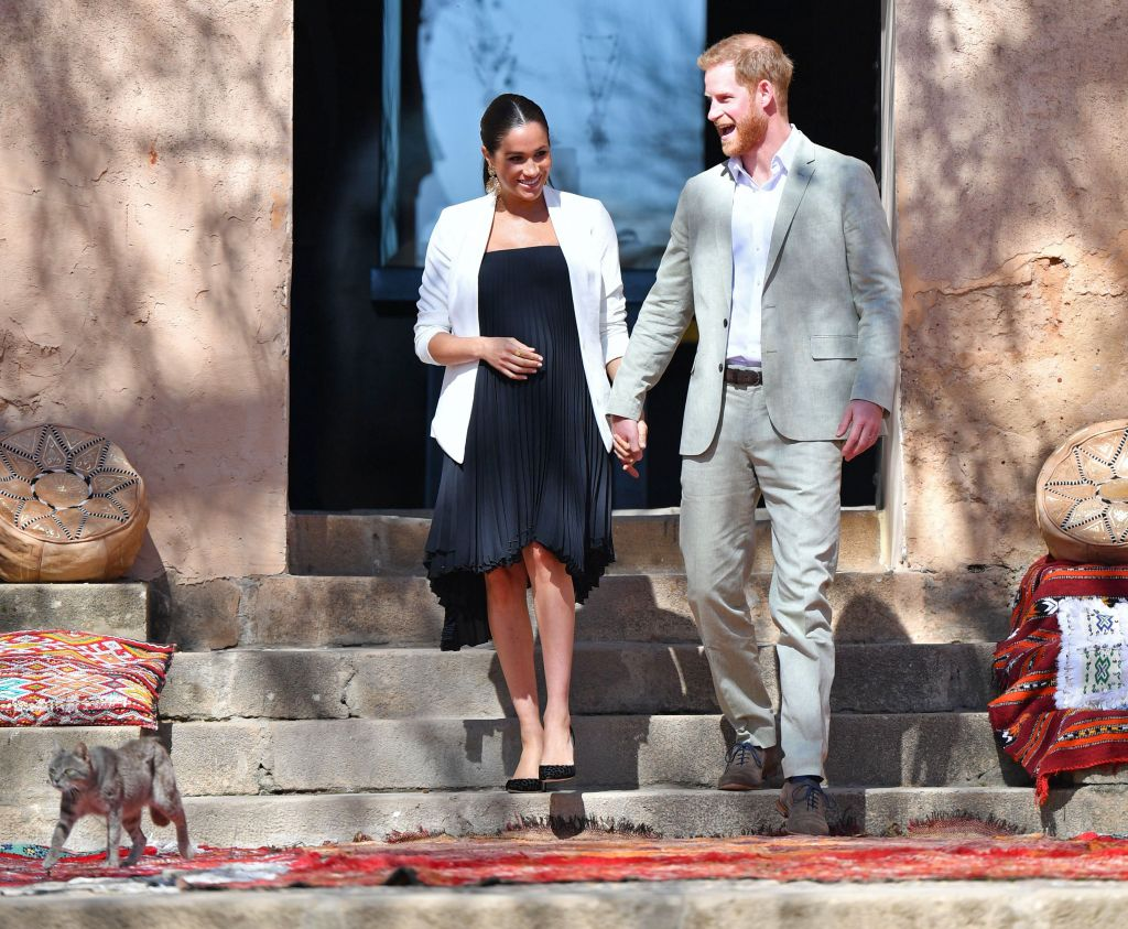 Meghan Duchess of Sussex and Prince Harry visit Andalusian Gardens in Morocco