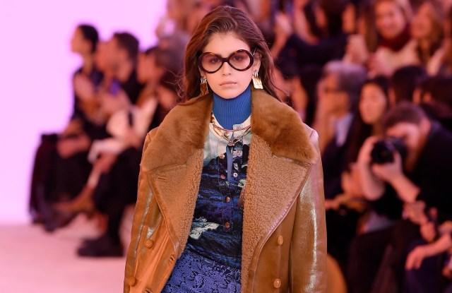 Kaia Gerber on the catwalkChloe show, Runway, Fall Winter 2019, Paris Fashion Week, France - 28 Feb 2019
