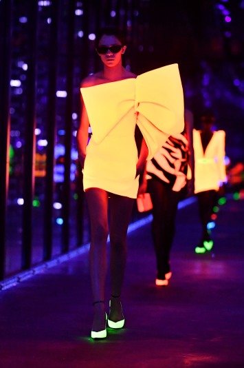 A model presents a creation from the Fall/Winter 2019/20 Women collection by Yves Saint Laurent during the Paris Fashion Week, in Paris, France, 26 February 2019. The presentation of the Women collections runs from 25 February to 05 March.Yves Saint Laurent - Runway - Paris Fashion Week Women F/W 2019/20, France - 26 Feb 2019