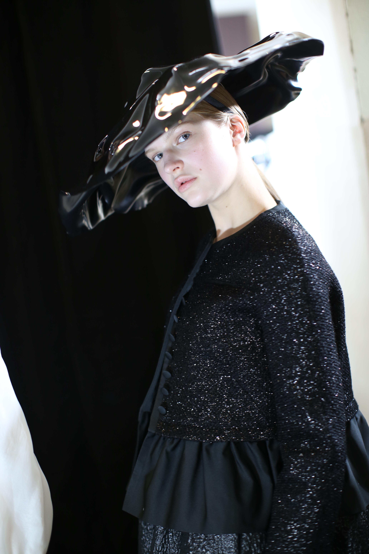 Model backstageRochas show, Backstage, Fall Winter 2019, Paris Fashion Week, France - 27 Feb 2019