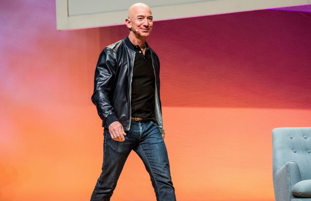 Jeff Bezos seen on day two of Summit LA17 in Downtown Los Angeles's Historic Broadway Theater District, in Los AngelesSummit LA17, Los Angeles, USA - 04 Nov 2017