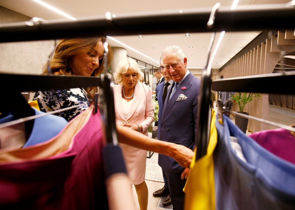 Britain's Prince Charles and Camilla Duchess of Cornwall, tour the new Tech Hub, with Alison Loehnis President of Net-a-Porter, at the Yoox Net-a-Porter Group offices in west LondonPrince Charles and Camilla Duchess of Cornwall tour the new Tech Hub, London, UK - 16 May 2018