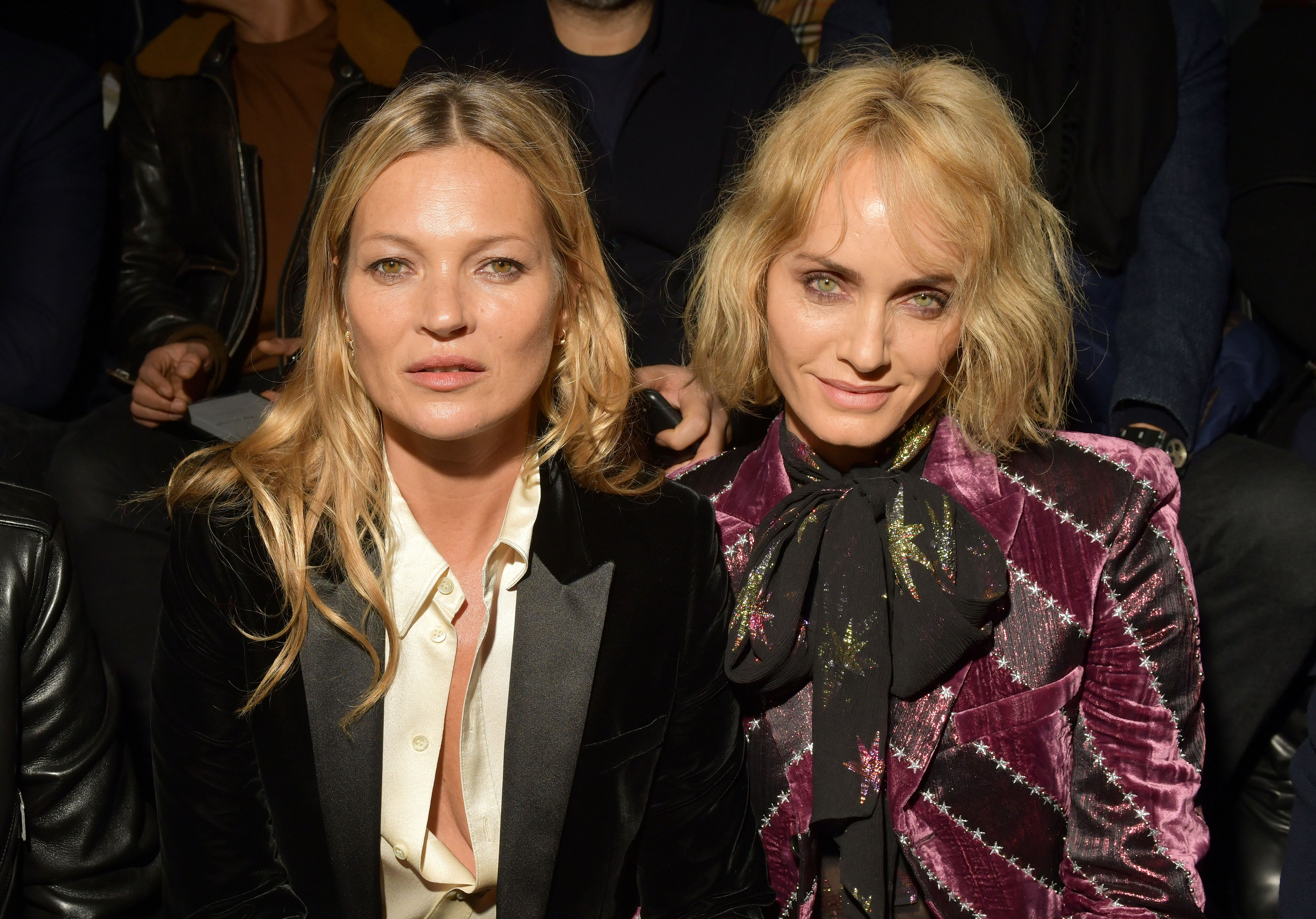Kate Moss and Amber Valletta