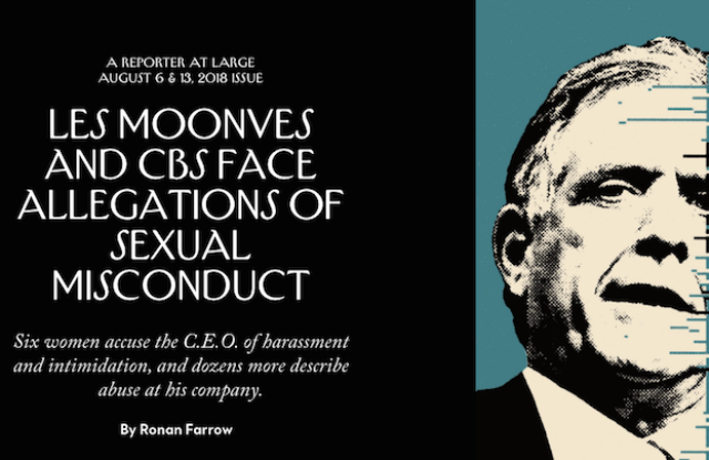 Reporting by Ronan Farrow got The New Yorker one of its nine Ellie award nominations this year.