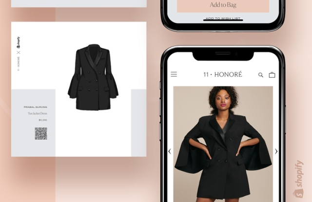 11 Honoré is partnering with Shopify on a NYFW show and pop-up store.
