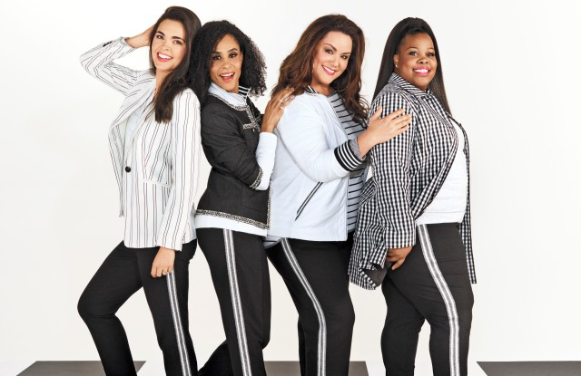 From left, Katie Lee, Angela Manuel-Dixon, Katy Mixon and Amber Riley at an O photo shoot.