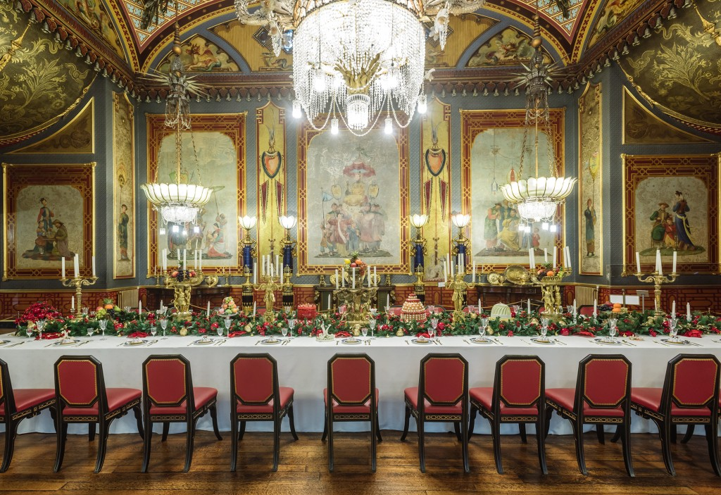 The banqueting room in the Brighton Pavilion