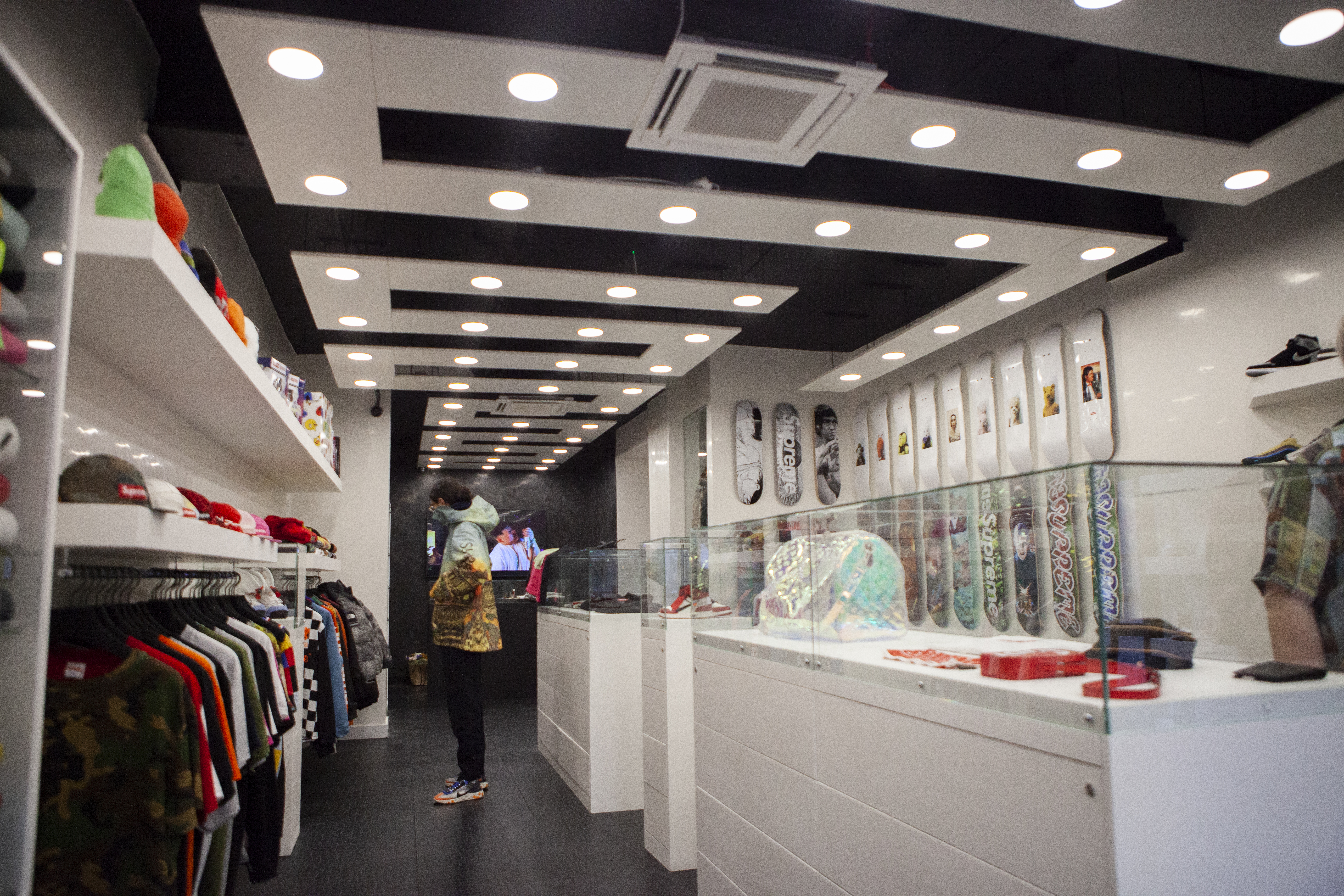Interior of The Collection store