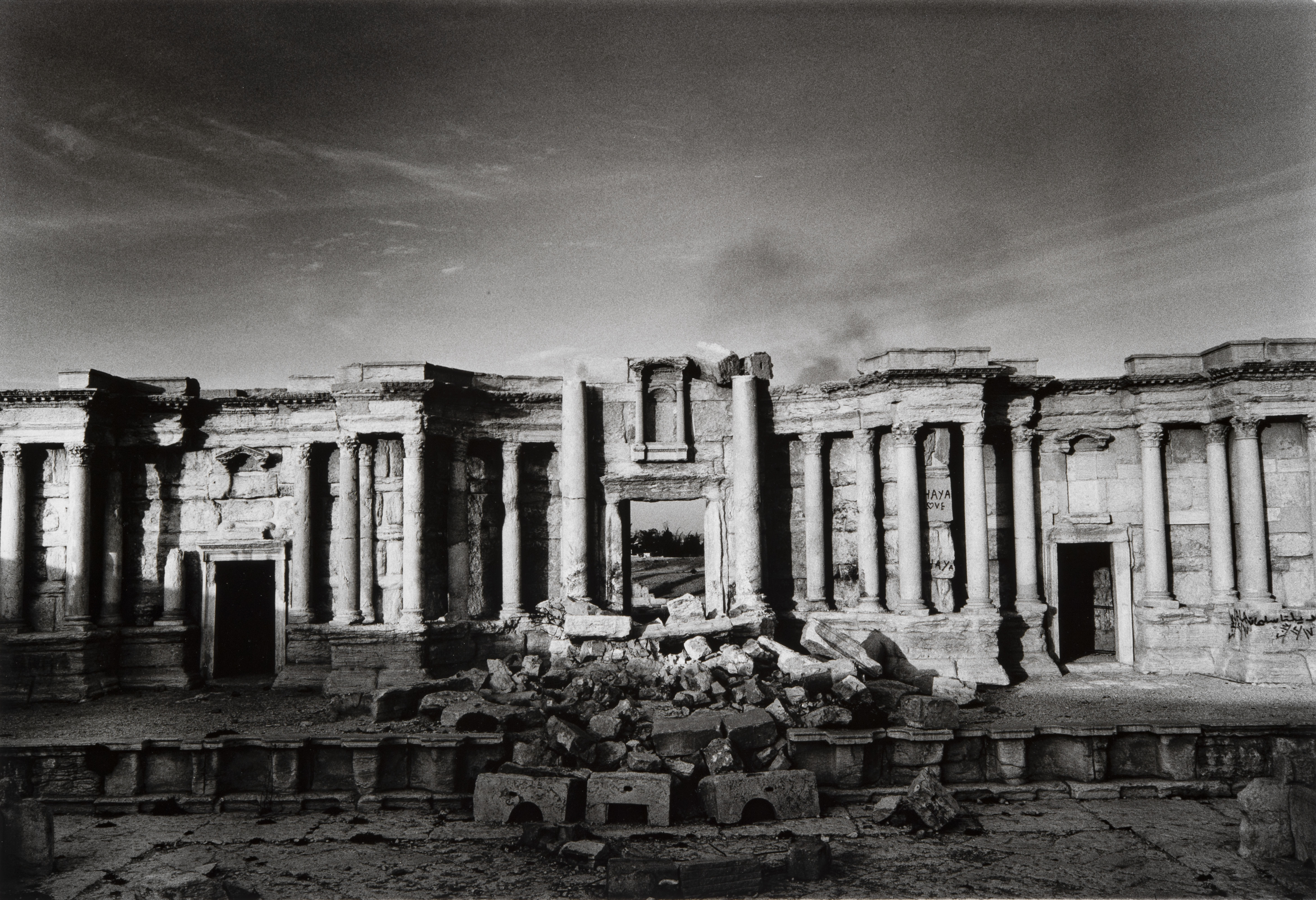 The Theatre on the Roman City of Palmyra, Partly Destroyed by Islamic State Fighters 2017 - Don McCullin, Tate Britain