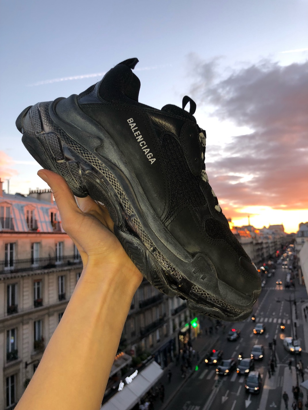 """Demna Gvasalia said he wanted a chunky, not Òugly"""" sneaker when he conceived the Triple S with its layer cake of soles."""