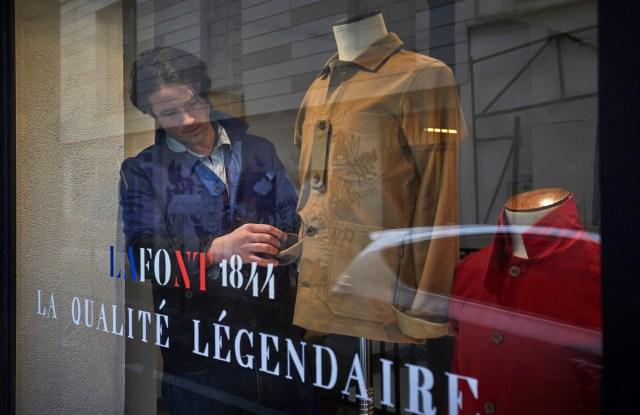 Louis-Marie de Castelbajac at the Lafont 1844 pop-up store on the rue de Vertbois
