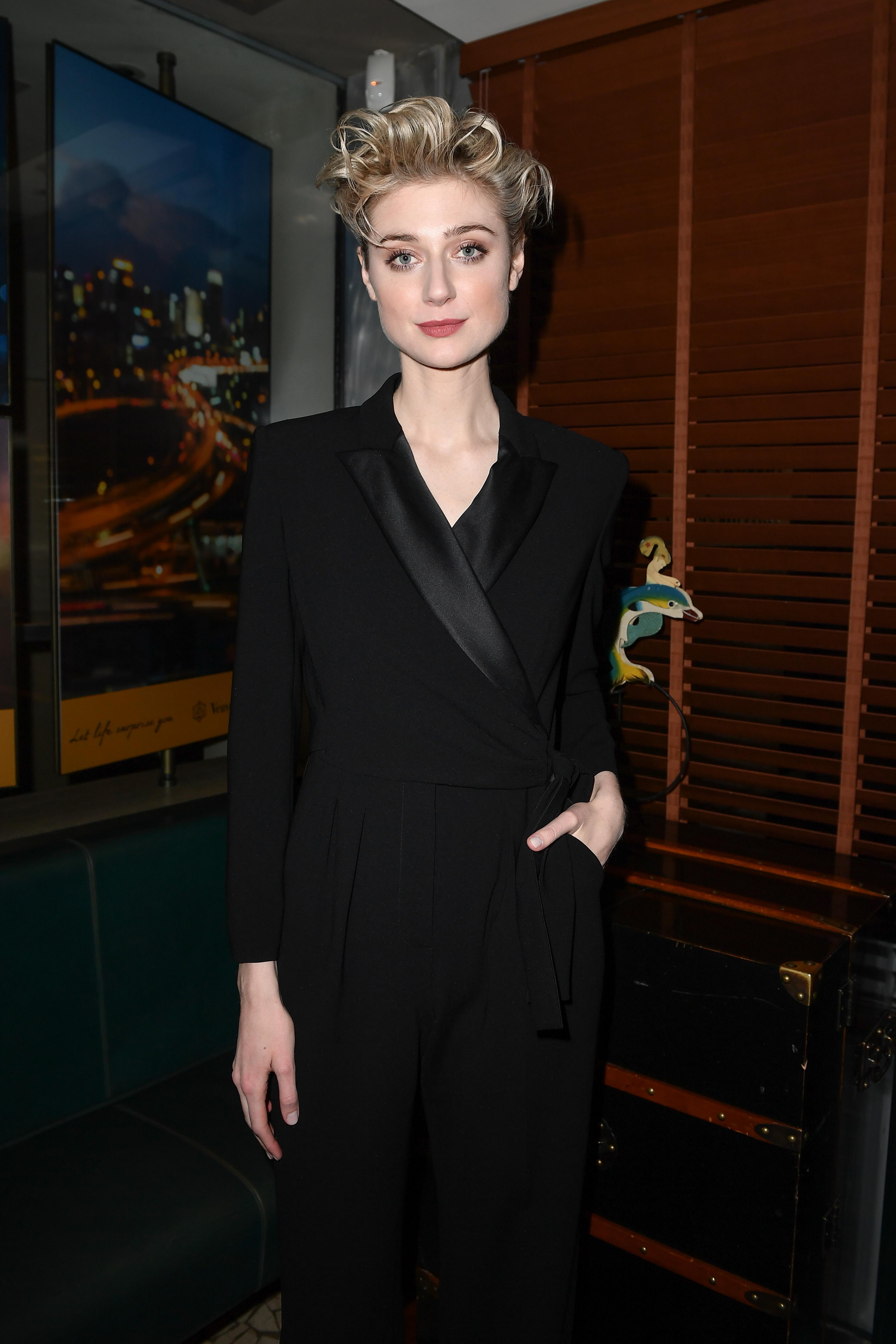 Face of the Future Elizabeth Debicki attends Max Mara Dinner during Milan Fashion Week.