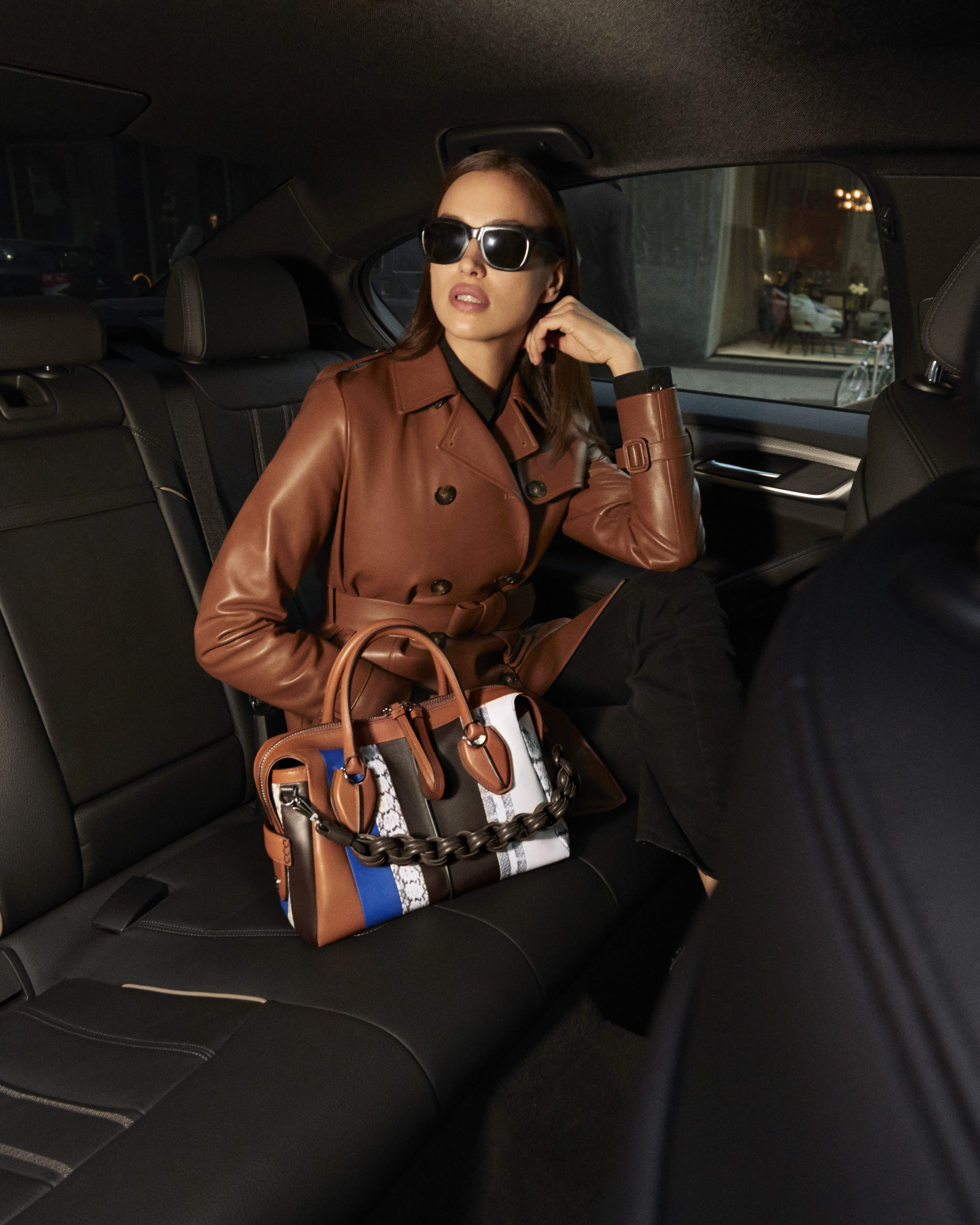 "Irina Shayk appars in Tod's ""My life is in this bag"" short movie series"