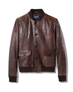 Dylan Gray will offer a distressed leather jacket.