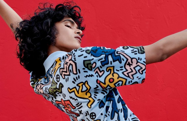 A look from the Keith Haring x Lacoste collection.