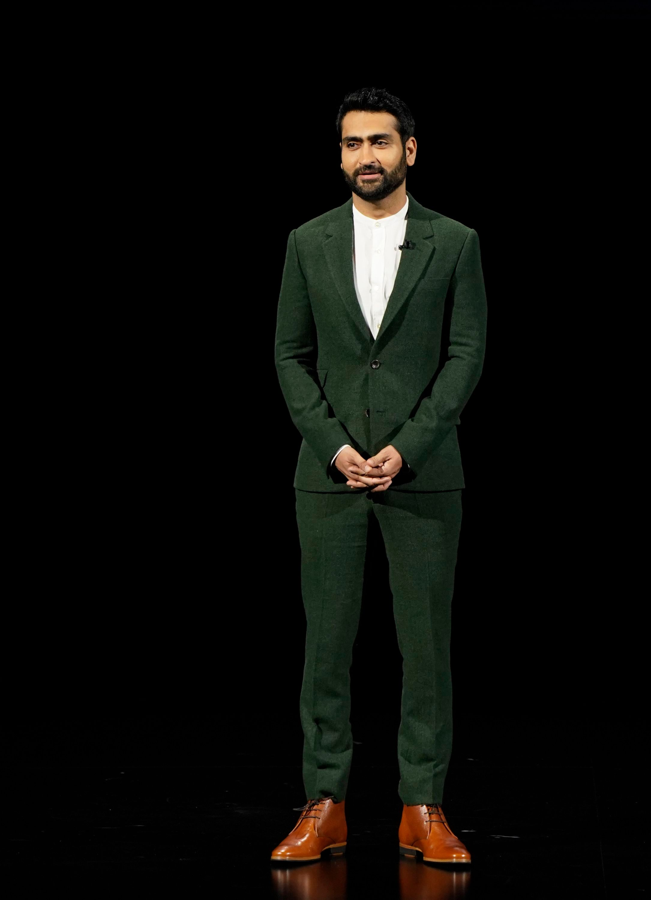 Kumail Nanjiani speaks at the Steve Jobs Theater during an event to announce new products, in Cupertino, CalifApple Streaming TV, Cupertino, USA - 25 Mar 2019