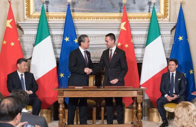 Italy, China sign memorandum of understanding.