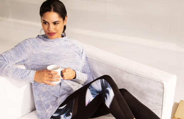 A look from Isaac Mizrahi's collaboration with New Balance for QVC.