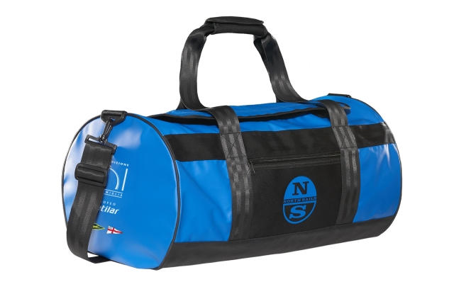 A North Sails duffle bag marking the sponsorship with the 151 Miglia-Trofeo Cetilar regatta.