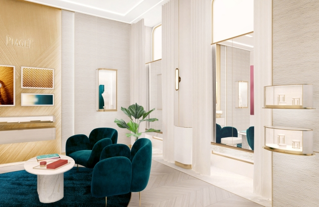 Rendering of Piaget store salon
