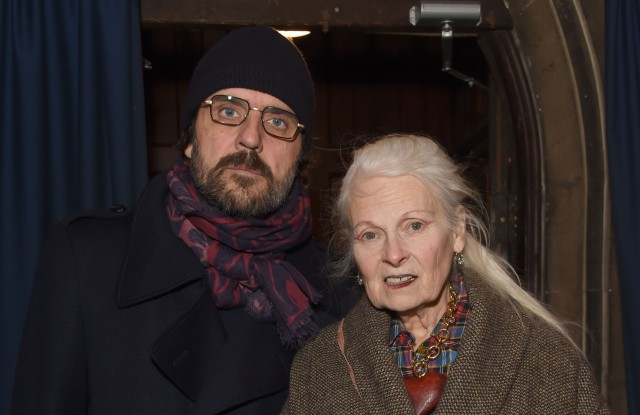 Andreas Kronthaler and Vivienne Westwood attend a memorial for Judy Blame at Union Chapel on March 11, 2019 in London, England.Photo by Dave Benett