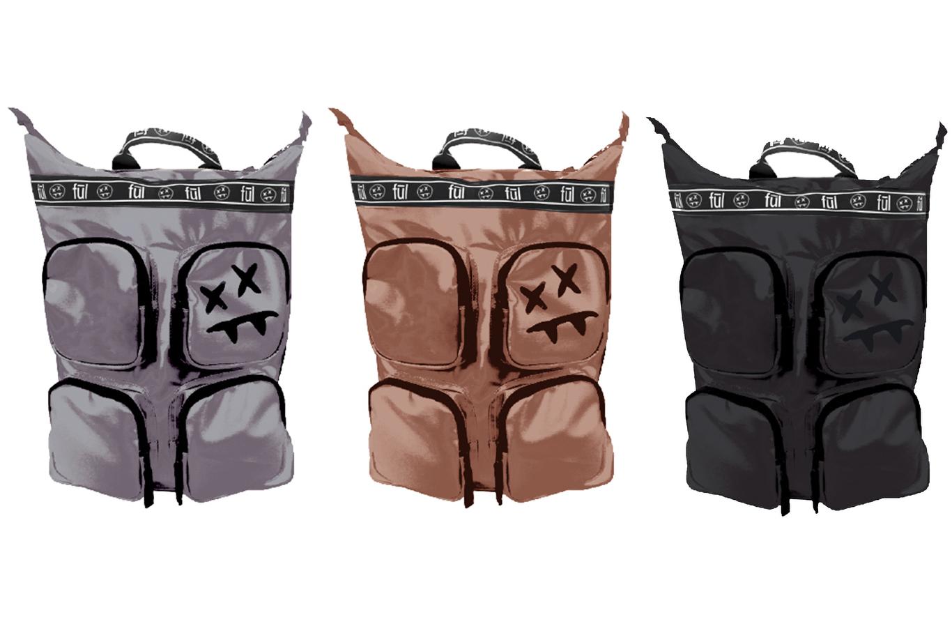 Backpacks from the Fūl X Steve Aoki range