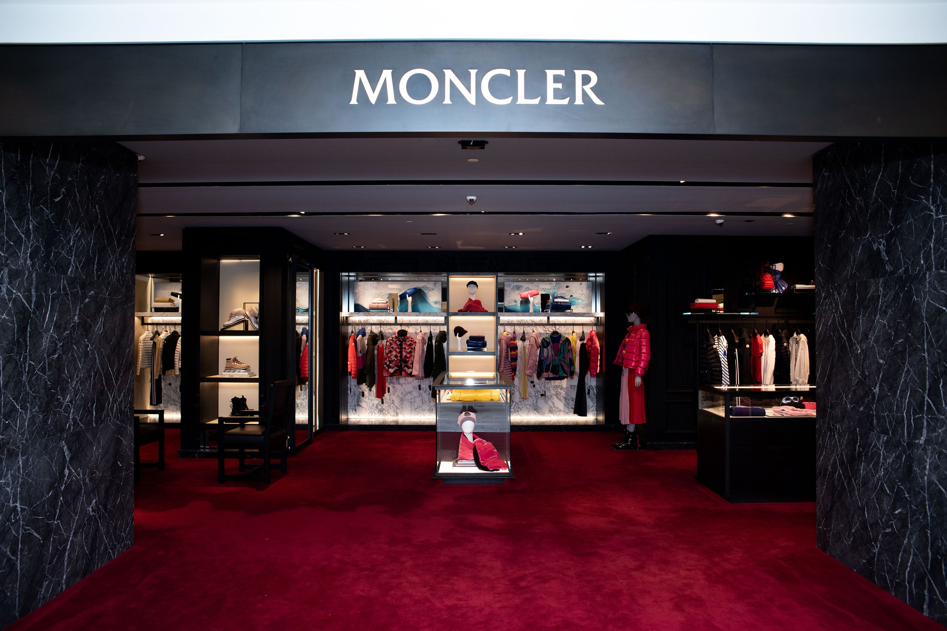 The Moncler shop on the fourth floor.