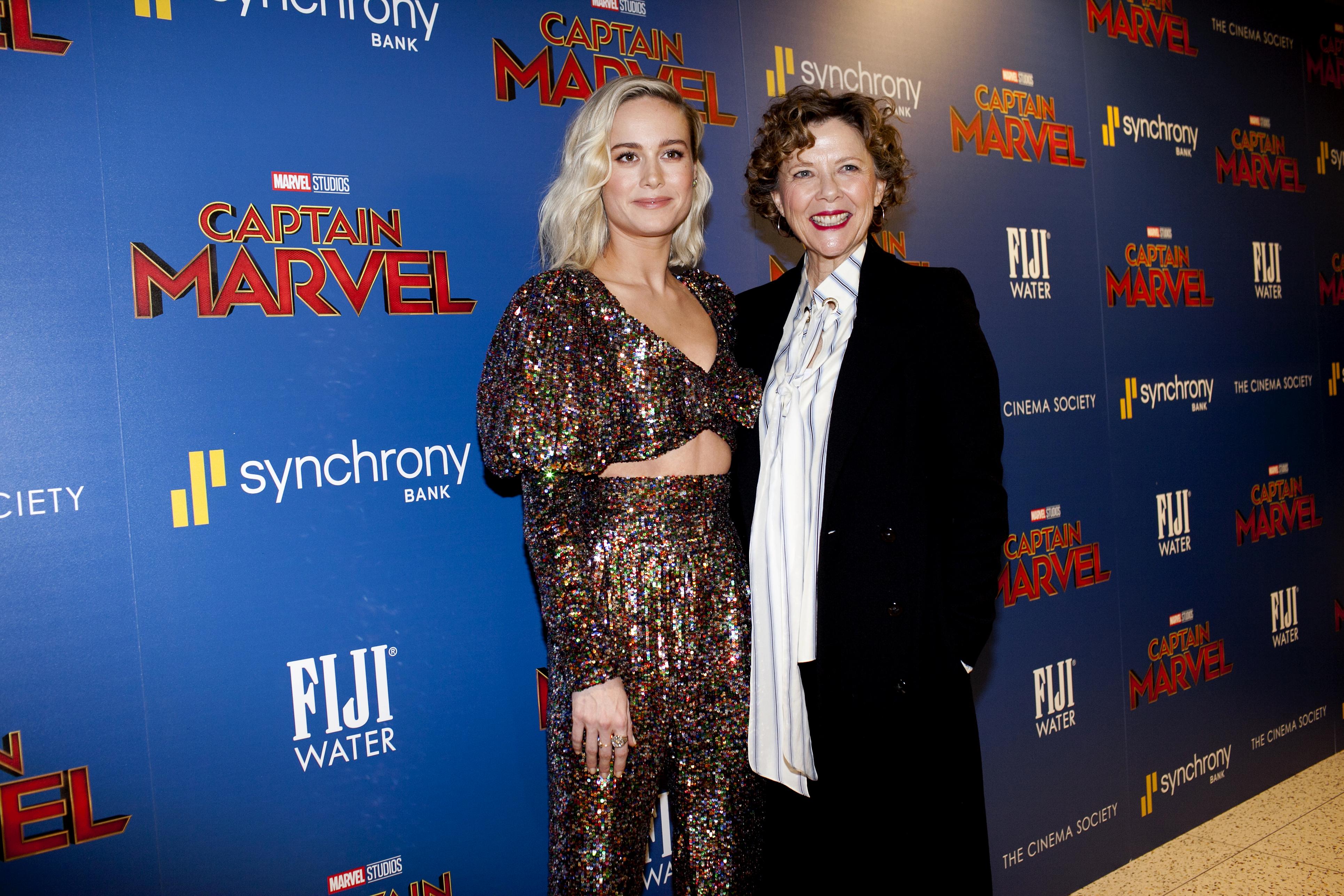 Brie Larson and Annette Bening 'Captain Marvel' New York Screening
