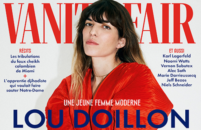 Lou Doillon fronts the cover of the April issue of Vanity Fair France