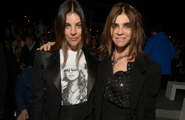 Julia Restoin-Roitfeld and Carine Restoin-Roitfeld in the front rowCeline show, Front Row, Fall Winter 2019, Paris Fashion Week, France - 01 Mar 2019