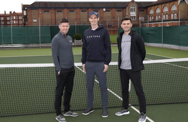 Tom Beahon, Andy Murray and Phil Beahon at The Queen's Club