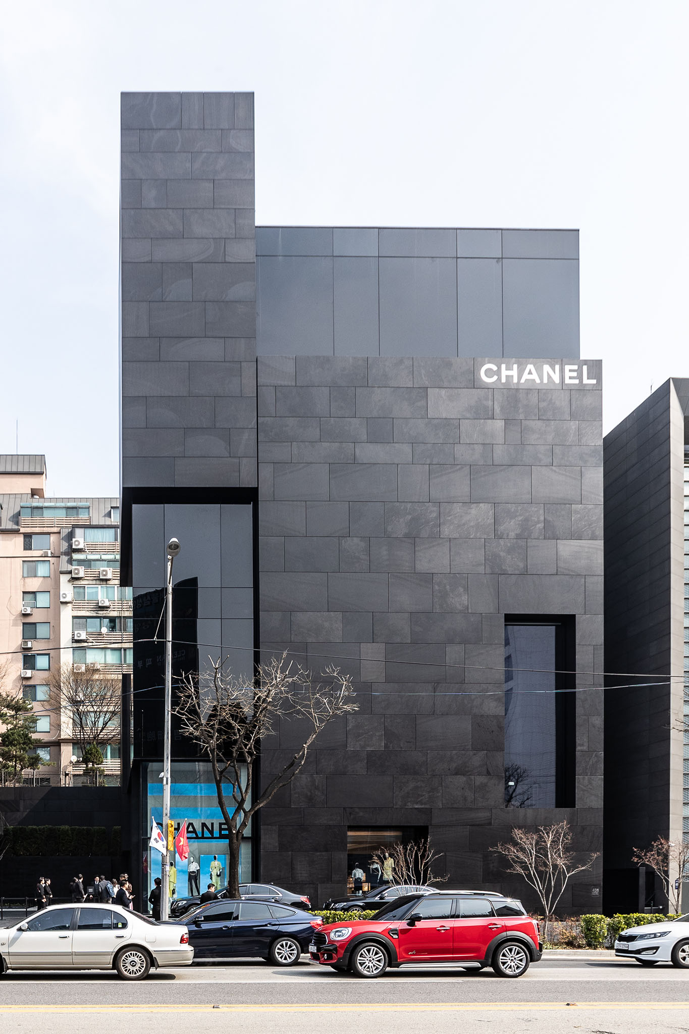The Chanel flagship in Seoul and the Chanel Pharrell collection.