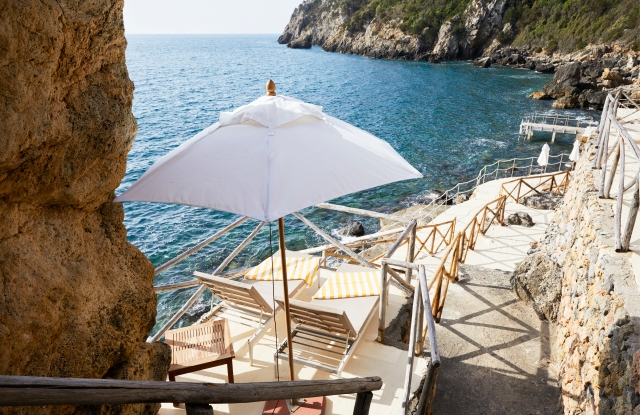 A view from the Il Pellicano hotel in Tuscany.