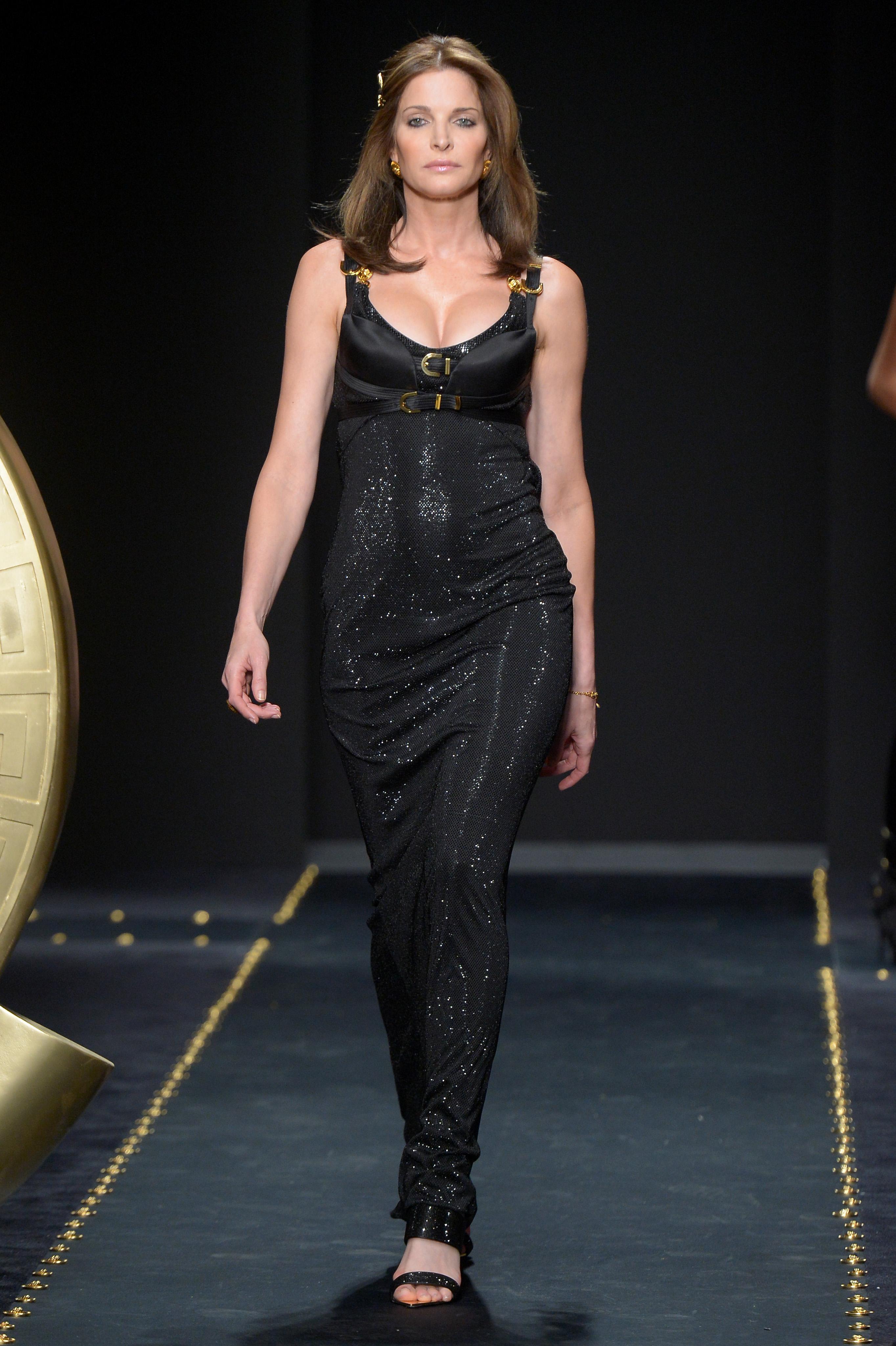 Stephanie Seymour on the catwalk