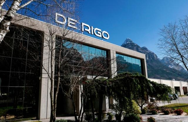 The De Rigo industrial complex in Longarone, Italy.