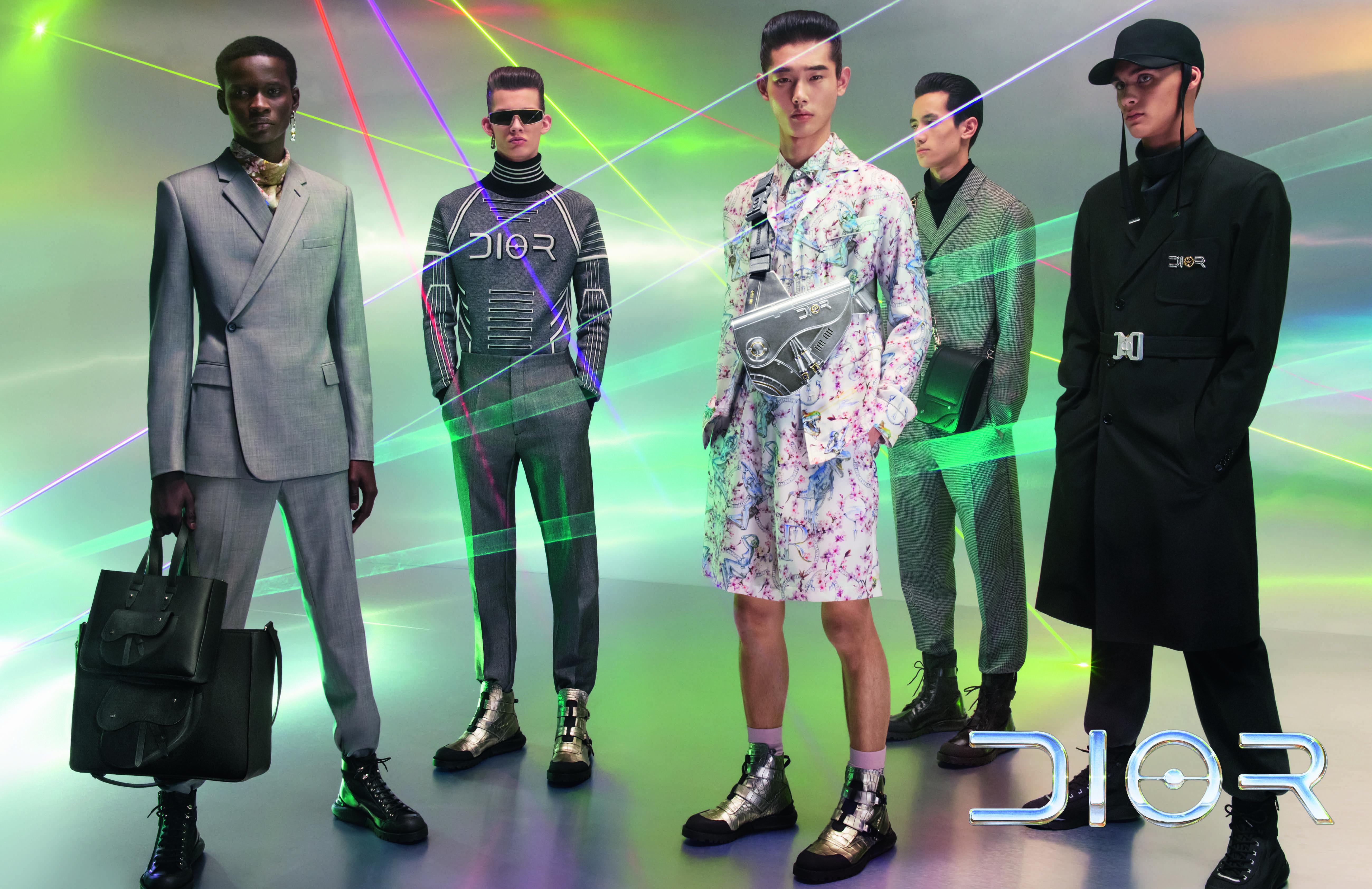 The Dior men's pre-fall advertising campaign.