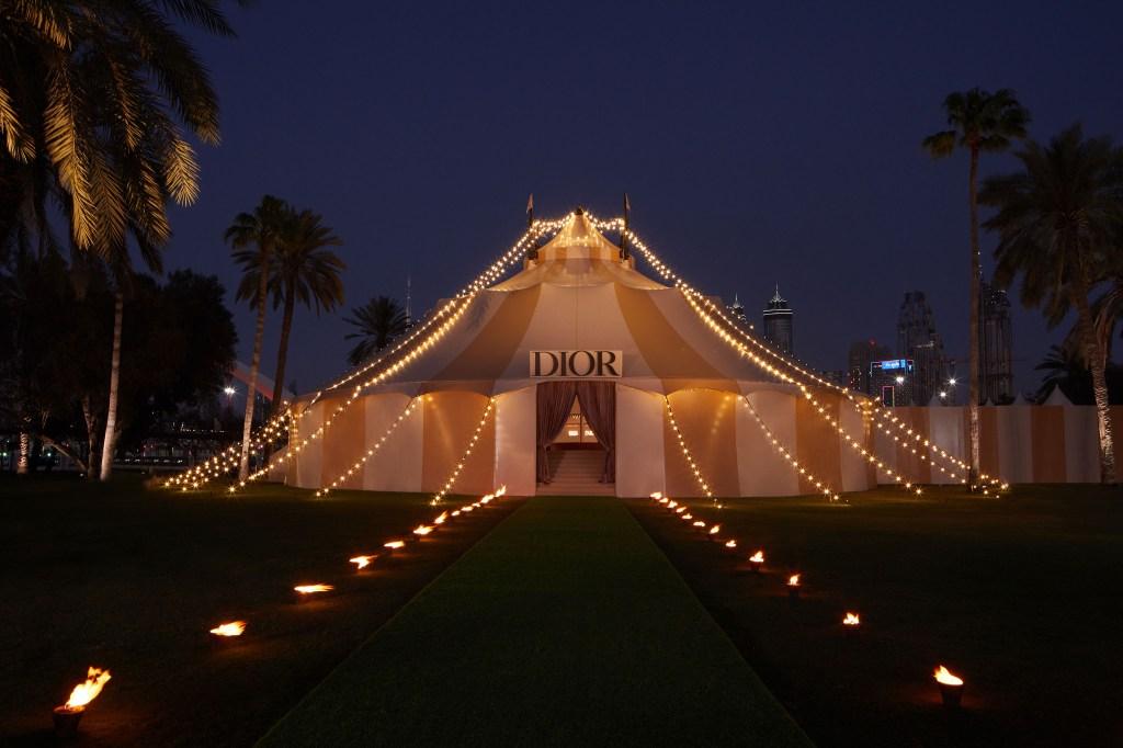 The Dior show venue in Dubai