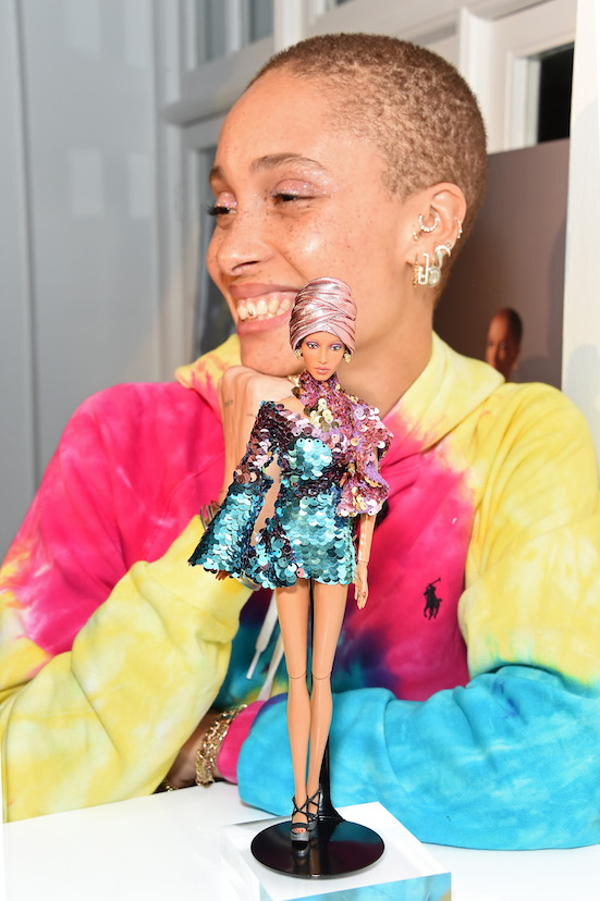 LONDON, ENGLAND - MARCH 06: Adwoa Aboah attends the Gurls Talk x Barbie event, hosted by Adwoa Aboah, celebrating their collaboration at Dover Street Market on March 06, 2019 in London, England. Pic Credit: Dave Benett