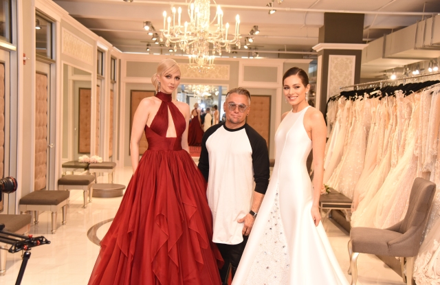 Mark Zunino with models wearing designs from his new Atelier label.